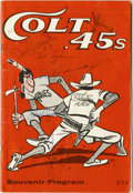 Autographs:Others, 1963 Houston Colt .45s vs. Milwaukee Braves Program Signed by 20Braves. This program from the 1963 campaign is from a matc...