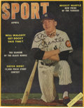 """Autographs:Others, 1953 Mickey Mantle Signed """"Sport"""" Magazine Cover. Nicely preservedSport magazine cover had been graced with the applic..."""