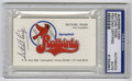 Autographs:Others, Satchel Paige Signed Business Card PSA Authentic. When the minorleague team New Orleans Pelicans moved to Springfield, IL ...