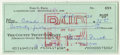 Autographs:Checks, 1970 Ford Frick Double-Signed Personal Check. Hall of Fame member Ford Frick spent several years involved in baseball, serv...