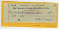 Autographs:Checks, 1956 Eppa Rixey Signed Check. With 21 Major League seasons underhis belt, the HOF lefty Eppa Rixey piled up 266 wins in th...