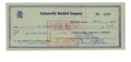 Autographs:Checks, 1959 Bill Terry Signed Check. This cancelled check from 1959 hasbeen written to a Wm. Dudley Whitley for the amount of $20...