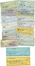 Autographs:Checks, Baseball Stars Signed Checks Lot of 16. Amassed here is a stunningcollection of cancelled checks, each signed by one of ba...
