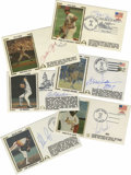 Autographs:Others, Baseball Stars Signed First Day Covers Lot of 10. Group of tenFirst Day Covers is made available here, with signatures gra...