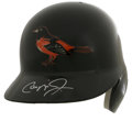 Autographs:Others, Cal Ripken, Jr. Signed Batting Helmet. The offered AmericanBaseball Company black Baltimore Orioles batting helmet is bran...