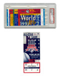 Baseball Collectibles:Others, 1997 World Series and All-Star Game Full Tickets Lot of 2. Greatpair of tickets from the 1997 season highlights two of the...
