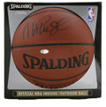 Basketball Collectibles:Balls, Magic Johnson Single Signed Basketball. Standing at 6 ft 9 in andpossessing an ability to pass that was rarely found in a ...