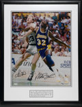 Autographs:Photos, Larry Bird and Magic Johnson Signed Photograph. When a strongMichigan State squad reached the 1979 NCAA Final to face Ind...
