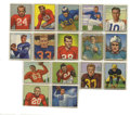 Football Cards:Lots, 1950 Bowman Football Group Lot of 16. Great early football issue is represented here with 16 cards from the 1950 Bowman set...