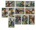 Football Cards:Lots, 1951 Bowman Football Group lot of 52. Healthy sampling from the 1951 Bowman Football issue is up for grabs here as we offer...