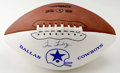 Football Collectibles:Balls, Tom Landry Single Signed Football. The only head coach the Dallas Cowboys had for the first 29 years of the franchise's exi...