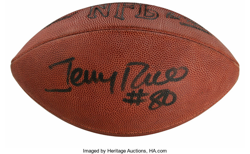 Jerry Rice Single Signed Football. Future Hall of Fame  0072cdd3c