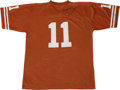 Football Collectibles:Others, Major Applewhite Signed University of Texas Jersey. University of Texas quarterback from 1998-2001 Major Applewhite was an ...