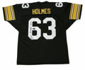 """Football Collectibles:Others, Ernie Holmes Signed Jersey. Ernie Holmes, part of the famed Pittsburgh Steelers Steel Curtain, was known as """"Fats."""" The of..."""