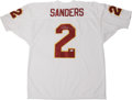 Football Collectibles:Others, Deion Sanders Signed Jersey. Prime Time Deion Sanders enjoyed an exciting career, mostly as a cornerback at the NFL level. ...