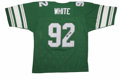 Football Collectibles:Others, Reggie White Signed Jersey. Recent Hall of Fame inductee and one of the most revered players in the history of the NFL, Reg...