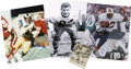 Football Collectibles:Others, Football Hall of Fame Legends Signed Photographs Lot of 8. Great group of Hall of Fame signatures has been collected here, ...