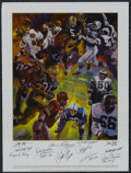 """Football Collectibles:Others, Football Hall of Famers Poster Signed by 12. One dozen fabulous 10/10 signatures reside on this poster entitled """"Legends"""" f..."""