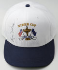 Golf Collectibles:Autographs, Byron Nelson Signed Ryder Cup Cap. The cap we offer here is fromthe year the international golf tournament, the Ryder Cup,...