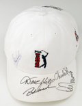 Golf Collectibles:Autographs, Golf Stars Multi-Signed Cap. Several golf stars have signed thisPGA Tour golf cap, including HOFers Lee Trevino and Chi Ch...
