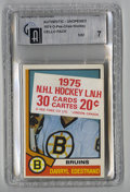 Hockey Collectibles:Others, 1974-75 O-Pee-Chee Hockey Cello Pack GAI NM 7. Much tougher than the wax packs from the same issue, the 1974-75 O-Pee-Chee ...