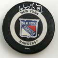 Hockey Collectibles:Others, Wayne Gretzky Signed Hockey Puck. Wayne Gretzky, regarded among the most proficient hockey players of all times, enjoyed on...