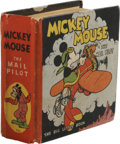 """Platinum Age (1897-1937):Miscellaneous, Big Little Book #731 Mickey Mouse (Whitman, 1933) Condition: FN/VF.Features the story """"Mickey Mouse and the Mail Pilot."""" Fl..."""