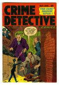 Golden Age (1938-1955):Crime, Crime Detective Comics #2 Mile High pedigree (Hillman Fall, 1952) Condition: VF-. Overstreet 2006 VF 8.0 value = $50. From...