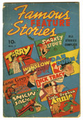 Golden Age (1938-1955):Miscellaneous, Famous Feature Stories #1 (Dell, 1938) Condition: GD. Reprintsfeaturing Tarzan, Terry and the Pirates, and Dick Tracy. Over...