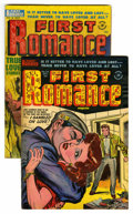 "Golden Age (1938-1955):Romance, First Romance #18 and 24 Group - Davis Crippen (""D"" Copy) pedigree(Harvey, 1953-54). Contains #18 and 24. Bob Powell art in...(Total: 2 Comic Books)"
