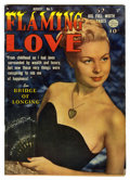 "Golden Age (1938-1955):Romance, Flaming Love #5 Davis Crippen (""D"" Copy) pedigree (Quality, 1950)Condition: FN/VF. Photo cover. Overstreet 2006 FN 6.0 valu..."