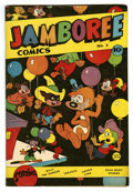 "Golden Age (1938-1955):Funny Animal, Jamboree Comics #3 Davis Crippen (""D"" Copy) pedigree (Round, 1946)Condition: VF+. Funny animal stories. Overstreet 2006 VF ..."