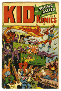 Kid Komics #6 (Timely, 1944) Condition: GD. World War II cover featuring Bucky, Toro, and the rest of Young Allies invad...