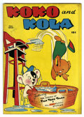 "Golden Age (1938-1955):Funny Animal, Koko and Kola #1 Davis Crippen (""D"" Copy) pedigree (MagazineEnterprises, 1946) Condition: VF/NM. Funny animal stories. Over..."