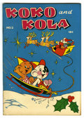 "Golden Age (1938-1955):Funny Animal, Koko and Kola #2 Davis Crippen (""D"" Copy) pedigree (MagazineEnterprises, 1946) Condition: VF/NM. Funny animal stories. Chri..."