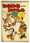 "Golden Age (1938-1955):Funny Animal, Koko and Kola #4 Davis Crippen (""D"" Copy) pedigree (MagazineEnterprises, 1947) Condition: VF-. Funny animal stories. Overst..."