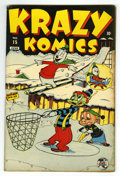 "Golden Age (1938-1955):Funny Animal, Krazy Komics #15 Davis Crippen (""D"" Copy) pedigree (Timely, 1944)Condition: FN/VF. Funny animal stories. Has a ""Super Soldi..."