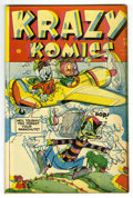 "Golden Age (1938-1955):Funny Animal, Krazy Komics #16 Davis Crippen (""D"" Copy) pedigree (Timely, 1944)Condition: FN/VF. Funny animal stories. Misprinted cover p..."