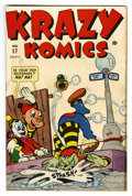 "Golden Age (1938-1955):Funny Animal, Krazy Komics #17 Davis Crippen (""D"" Copy) pedigree (Timely, 1945)Condition: VF. Funny animal stories. Overstreet 2006 VF 8...."
