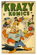 "Golden Age (1938-1955):Funny Animal, Krazy Komics #26 Davis Crippen (""D"" Copy) pedigree (Timely, 1947)Condition: VF. Funny animal stories. Super Rabbit cover an..."