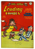 """Golden Age (1938-1955):Funny Animal, Leading Comics #25 Davis Crippen (""""D"""" Copy) pedigree (DC, 1947)Condition: VF/NM. Funny animal stories. Overstreet 2006 VF/N..."""
