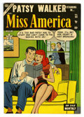"Golden Age (1938-1955):Romance, Miss America Magazine #55 Davis Crippen (""D"" Copy) pedigree(Timely, 1953) Condition: VF. Line drawn cover by Morris Weiss. ..."