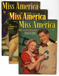 """Golden Age (1938-1955):Romance, Miss America Magazine - Davis Crippen (""""D"""" Copy) pedigree Group(Timely, 1948-52). Contains V7#10 (photo cover - VG+), V7#12...(Total: 8 Comic Books)"""
