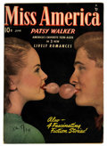 "Golden Age (1938-1955):Romance, Miss America Magazine V7#11 Davis Crippen (""D"" Copy) pedigree(Timely, 1948) Condition: VF. Photo cover. Overstreet 2006 VF ..."