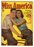 "Golden Age (1938-1955):Romance, Miss America Magazine V7#16 Davis Crippen (""D"" Copy) pedigree(Timely, 1948) Condition: FN/VF. Photo cover. Overstreet 2006 ..."
