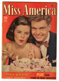 "Golden Age (1938-1955):Romance, Miss America Magazine V7#17 Davis Crippen (""D"" Copy) pedigree(Timely, 1948) Condition: VF-. Photo cover. Overstreet 2006 VF..."