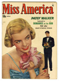 "Golden Age (1938-1955):Romance, Miss America Magazine V7#21 Davis Crippen (""D"" Copy) pedigree(Timely, 1948) Condition: VF+. Photo cover. Overstreet 2006 VF..."