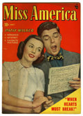 "Golden Age (1938-1955):Romance, Miss America Magazine V7#22 Davis Crippen (""D"" Copy) pedigree(Timely, 1949) Condition: VF-. Photo cover. Overstreet 2006 VF..."
