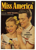 Golden Age (1938-1955):Romance, Miss America Magazine V7#24 (Timely, 1949) Condition: VF. Photocover. Jack Kamen art. Overstreet 2006 VF 8.0 value = $47. ...
