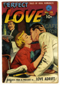 Golden Age (1938-1955):Romance, Perfect Love #10 (#1) (Ziff-Davis, 1951) Condition: VG+. Painted cover. Overstreet 2006 VG 4.0 value = $42. From the Colle...